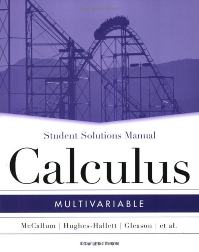 Student Solutions Manual to Accompany Multivariable Calculus