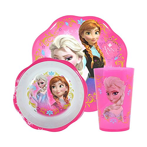 Disney Frozen Mealtime Set With Plastic Plate/Bowl and Cup
