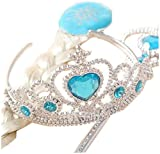 Inspired Elsa Tiara, Wand and Hairpiece 3 Pc Set