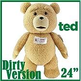 【電池交換可能】TED テッド ぬいぐるみ 24インチ60cm「R-レイテッド版」 等身大 トーキング 映画 グッズ Teddy Bear テディベア おしゃべり しゃべる 熊 くま 実物大