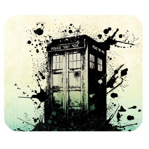 Rectangle Non-slip Rubber Mousepad Gaming Tardis Mouse Pad (Doctor Who)
