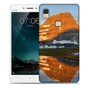 Snoogg Brown Mountain Designer Protective Phone Back Case Cover For Vivo V3 Max
