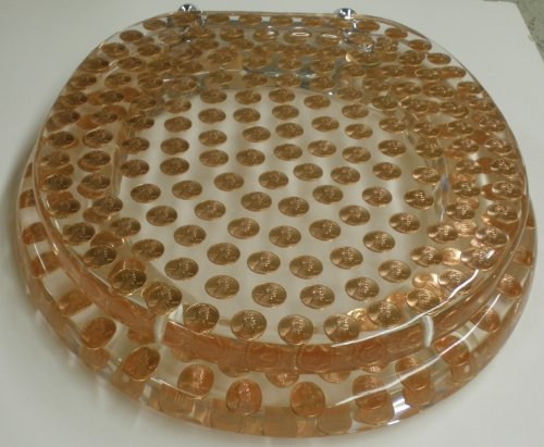Toilet Lid And Tank Covers Real U S Pennies Coins Money
