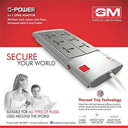 Goldmedal-3059-G-POWER-6+1-Spike-Surge-Protector