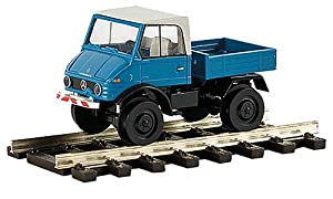 Amazon.com: Mercedes Unimog 421, blue, Model Car, Ready-made, Brekina