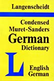 img - for Langenscheidt's Condensed Muret-Sanders English-German Dictionary book / textbook / text book