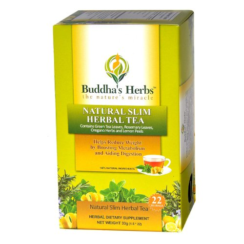 Natural Slim Herbal Tea - 22 Count Tea Bags - Herbal Slimming Tea - Weight Loss Tea - Slimming Green Tea
