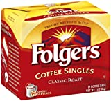 Folgers Classic Roast Coffee Singles, 19-Count Single Servings (Pack of 6)