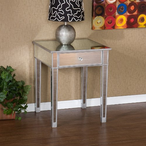 SEI Mirage Mirrored Accent table