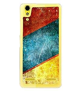 Multicolour Pattern 2D Hard Polycarbonate Designer Back Case Cover for Lenovo A6000 Plus :: Lenovo A6000+ :: Lenovo A6000
