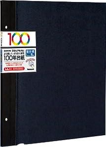 ナカバヤシ 100年台紙 フリーアルバム替台紙 Lサイズ ブラック アH-LFR-5-D