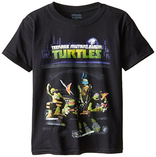 Teenage Mutant Ninja Turtles Big Boys' Sewer and Pizza Graphic T-Shirt