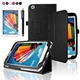 SAVFY Samsung Galaxy Tab 3 8.0 Case 8-inch Tablet Cover - SAVFY Retail Packed PU Leather Case Cover and Flip Stand, Bonus: + Screen Protector + Stylus Pen + SAVFY Cleaning Cloth (for Galaxy Tab 3 8