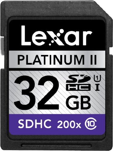 Lexar Platinum II 200x 32GB SDHC UHS-I Flash Memory Card LSD32GBBNL200 (Lexar Platinum Ii 8 Gb Memory compare prices)