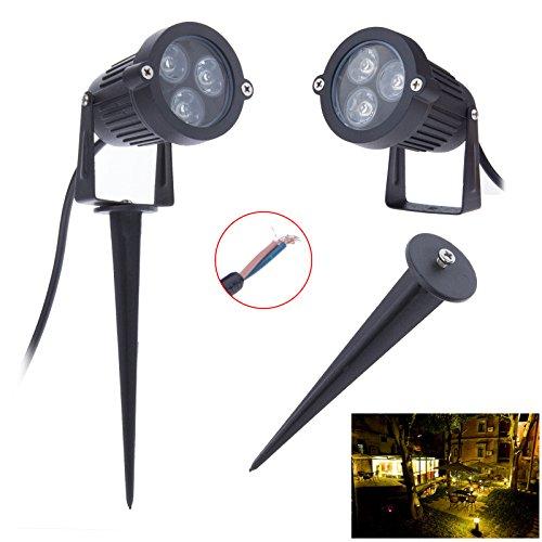 Lemonbest® Bright 6 Watts 12V Dc Cast-Aluminum Led Outdoor Landscape Spotlight Fixture Night Garden Lawn Lamp Warm White