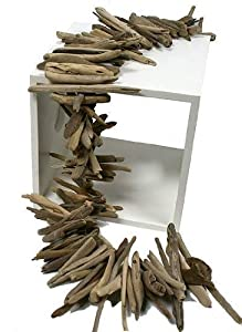 3 foot Natural Weathered Drift Wood Garland for Table or Decor