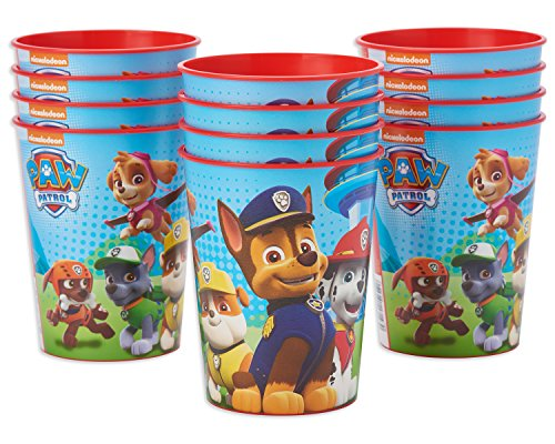 American Greetings PAW Patrol Plastic Party Cups (12 Count), 16 oz