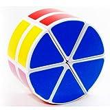 Diansheng 2-layered Cheese UFO White Cube Round Column (Color: White)