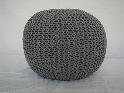 large-60cm-knitted-pod-pouffe-foot-stool-ottoman-contemporary-cushion-free-24hr-delivery-slate