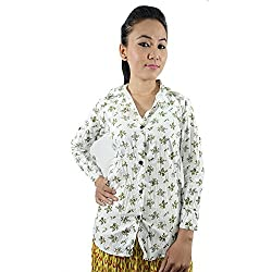 ShopMore Cotton Shirt(White_Medium)