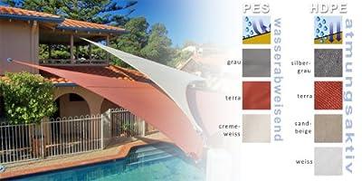 Sonnensegel Sonnenschutz Dreieck PES wasserabweisend CelinaSun versch. Farben und Größen von CelinaSun - Gartenmöbel von Du und Dein Garten