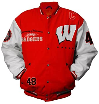 NCAA Unisex Adult Wisconsin Badgers Licensed Collegiate Varsity Jackets by MTC Marketing