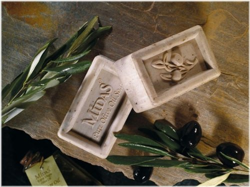 Midas Natural Olive Oil Soap - Pure White 6.35 Oz. (Mediterranean Collection