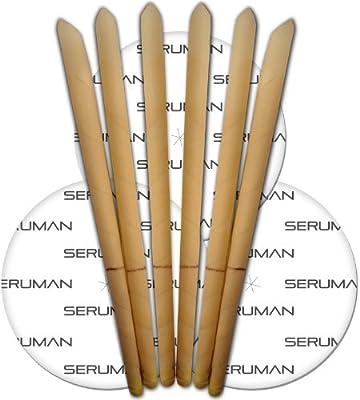 Organic Seruman Therapeutics Ear Candles (3 pairs) with protective discs by Seruman Therapeutics