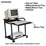 "Compact Narrow Computer Laptop Cart - 24"" W CUZZI STS-5801"