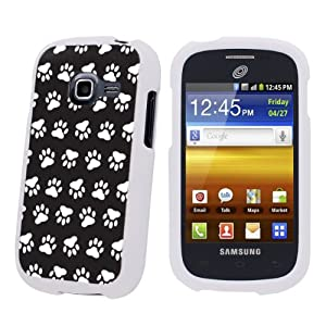 Samsung Galaxy Centura S738C White Protection Case - Black Paw By