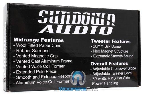 "New Sundown Audio Sa-6.5Cs 6.5"" 120 Rms Component Speakers Tweeters Crossovers"