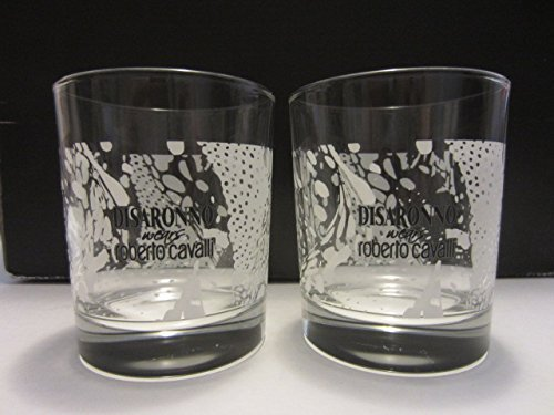 set-of-2-disaronno-italian-liqueur-fashion-designer-roberto-cavalli-exotic-print-lowball-rocks-glass