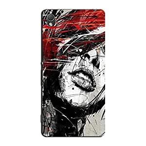 WOMAN DRAWING BACK COVER FOR SONY XPERIA Z3