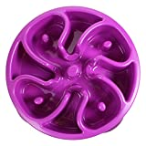Kyjen 2952 Slo-Bowl Interactive Bloat Stop Slow Feeder Bowl for Dogs, Mini, Flower Purple