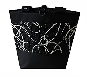Jayna Bags Women's Large Multipurpose Home Spun Edge Tote White & Black
