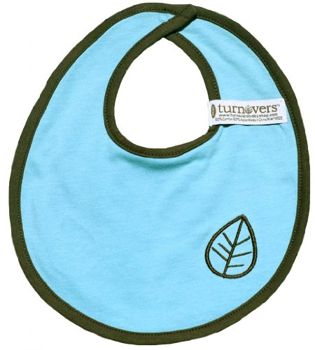 Turnovers Reversible Boys Snap Bib One Size Blue/Green/Brown
