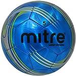 Mitre Laser Chrome Soccer Ball, Blue,...