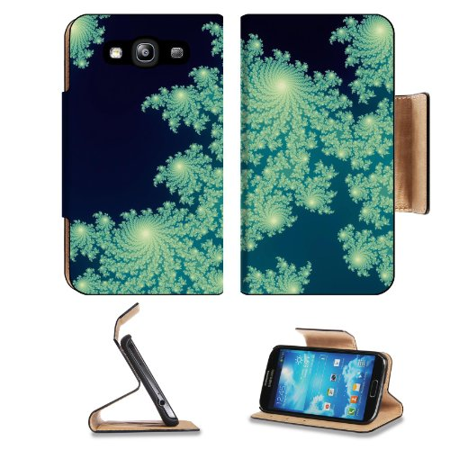 Pattern Teal Crystalline Samsung Galaxy S3 I9300 Flip Cover Case With Card Holder Customized Made To Order Support Ready Premium Deluxe Pu Leather 5 Inch (132Mm) X 2 11/16 Inch (68Mm) X 9/16 Inch (14Mm) Liil S Iii S 3 Professional Cases Accessories Open C