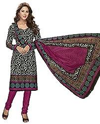 Komal art Ethnicwear Women's Dress Material(Komal art_Preyanshi5106_Black_Free Size)