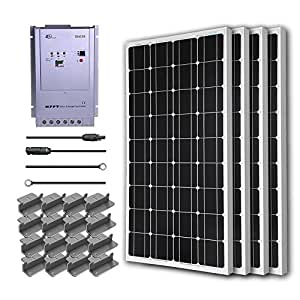 Renogy 400 Watts 12 Volts Monocrystalline Solar Premium Kit