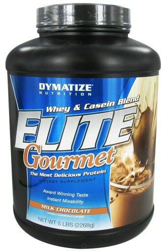 Dymatize Nutrition - Elite Gourmet Protein Whey & Casein Blend Powder Milk Chocolate - 5 Lbs.