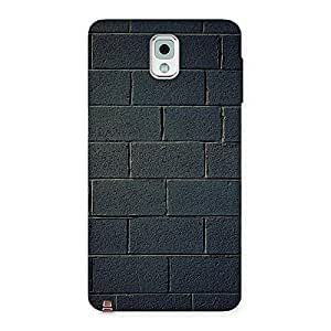Delighted Black Brick Wall Back Case Cover for Galaxy Note 3