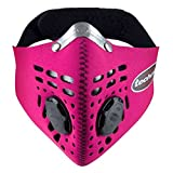 Respro Techno Anti-Pollution Mask - Medium - Pink (Color: Pink, Tamaño: Medium)