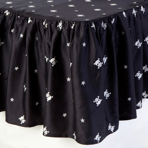 Sin In Linen Black Skull And Crossbones Baby Bedding Set