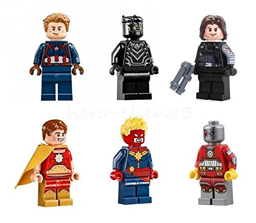 Mini Figures Hyperion Fantastic Four Black Panther Winter Soldier Building Toys