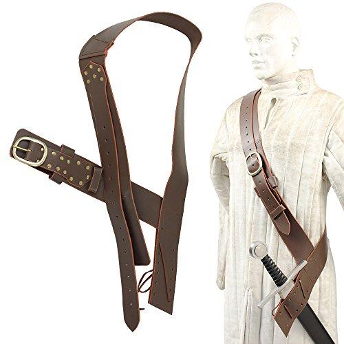 Queens Guard Medieval Baldric Belt Brown