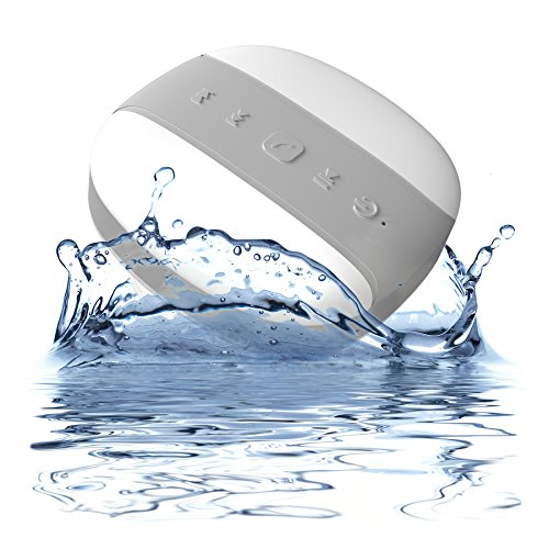 Bluetooth Shower Speaker - Mélodie - Portable Wireless Hands Free Speakerphone - Waterproof Rating Ipx4 - **Free 2 Year Guarantee** - About That Bass! (Peppermint) front-288028
