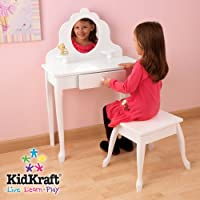 Kidkraft Medium White Vanity & Stool