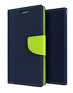 HTC Desire 820 Flip Cover by yora - Blue Customised New Design Perfect Fitting Video Stand View Flip Cover Case
