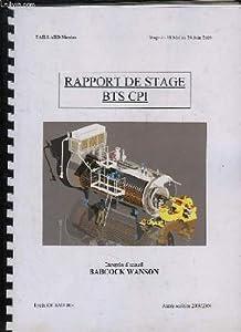 Rapport de stage bts cpi annee 2008 2009 - Rapport de stage en cuisine ...